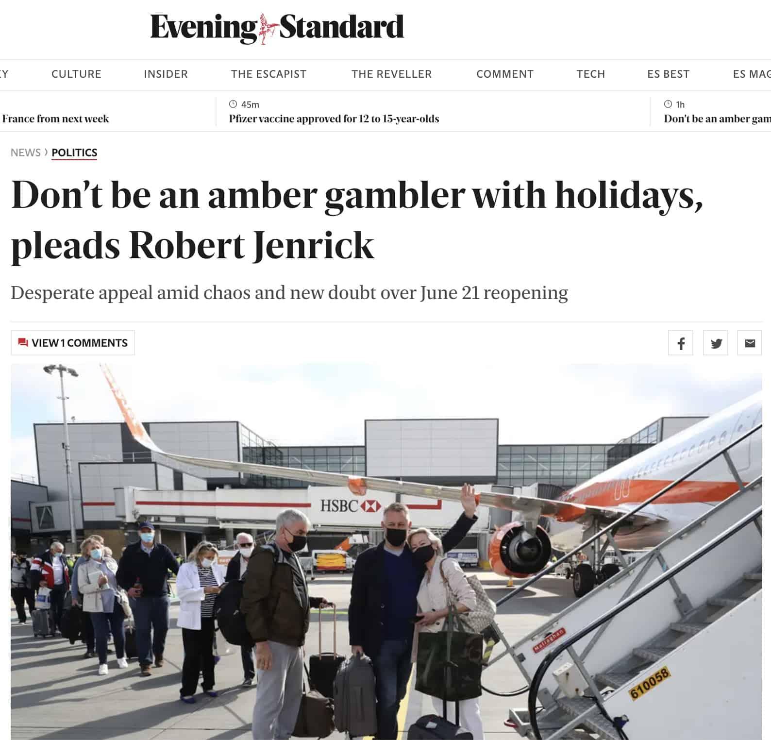 Evening Standard Huq Industries Coverage