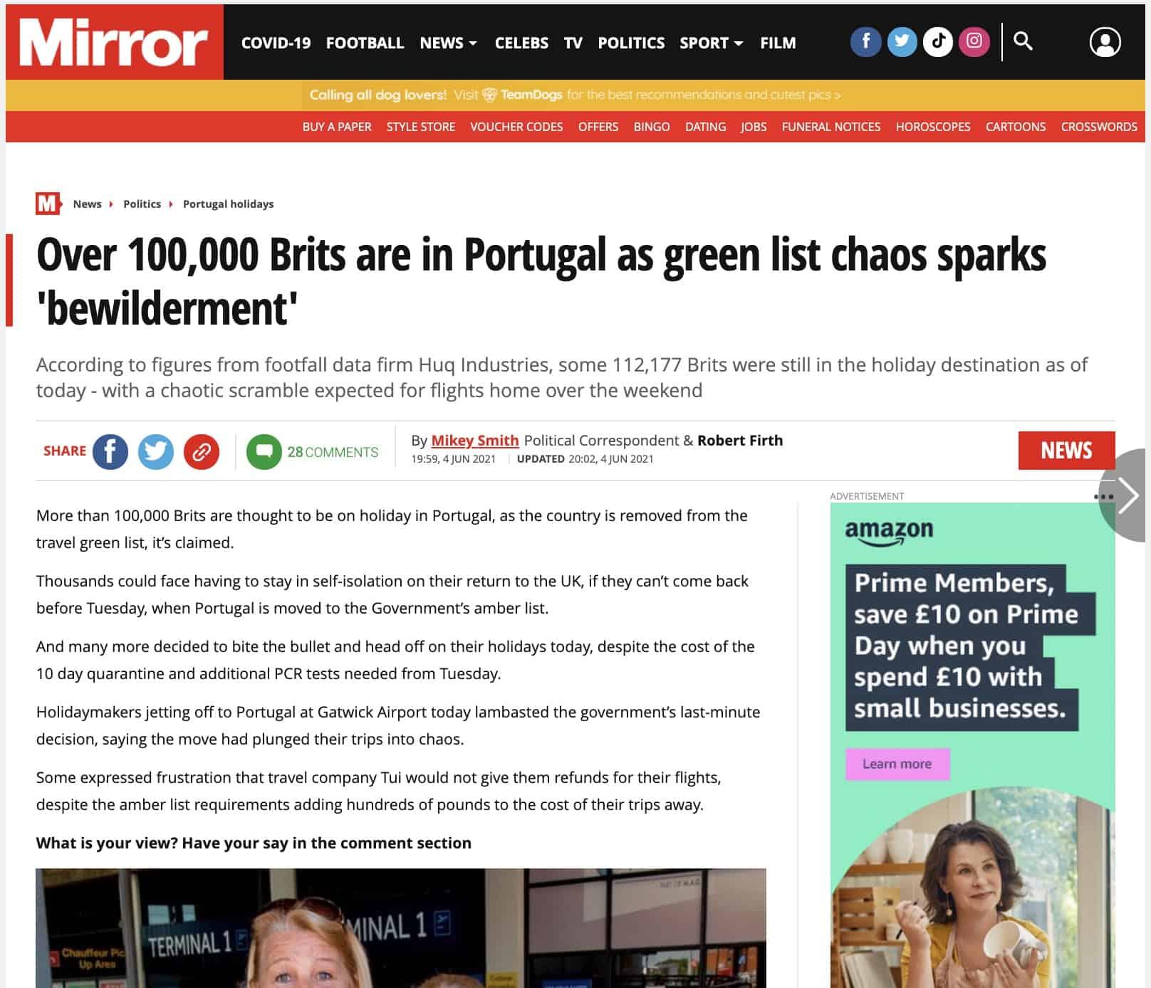 The Mirror Huq industries News