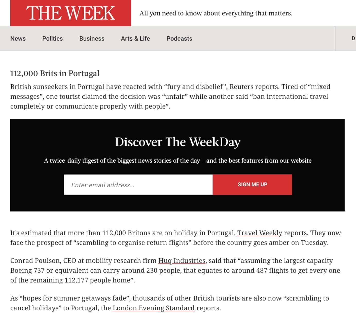 The Week Huq Coverage
